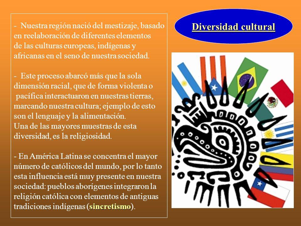 Diversidad cultural - Nuestra región nació del mestizaje, basado