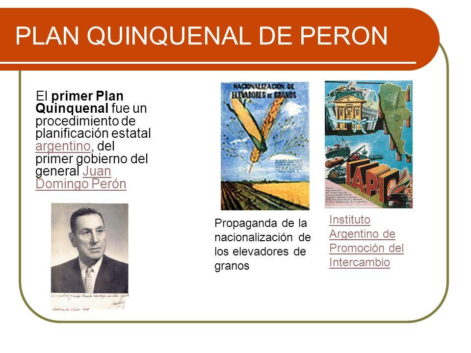 PLAN QUINQUENAL DE PERON