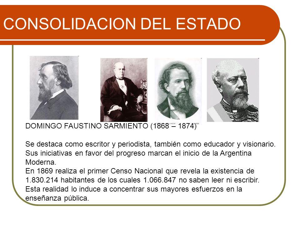 CONSOLIDACION DEL ESTADO