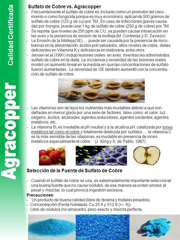 Agracopper Calidad Certificada Sulfato de Cobre vs. Agracopper