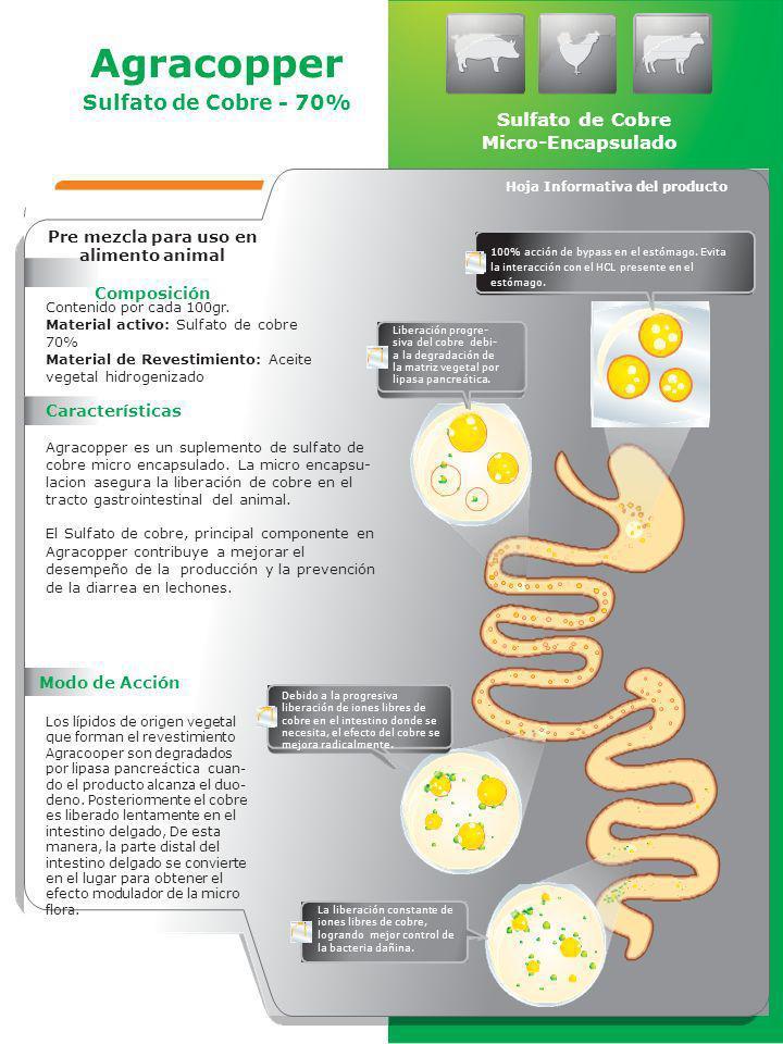 Hoja Informativa del producto Pre mezcla para uso en alimento animal