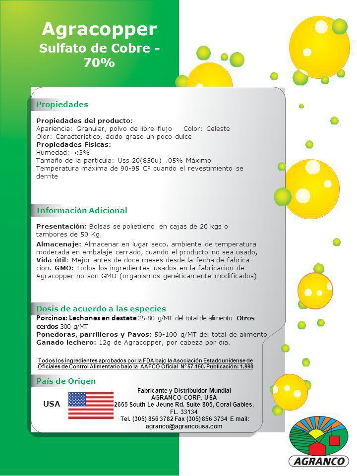Agracopper Sulfato de Cobre - 70%