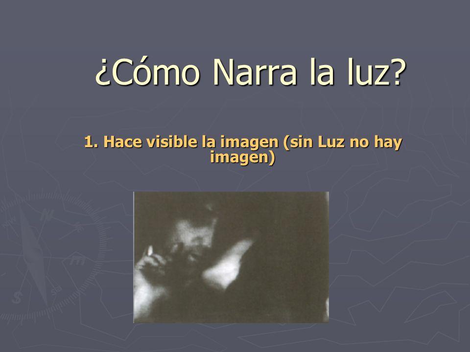 1. Hace visible la imagen (sin Luz no hay imagen)