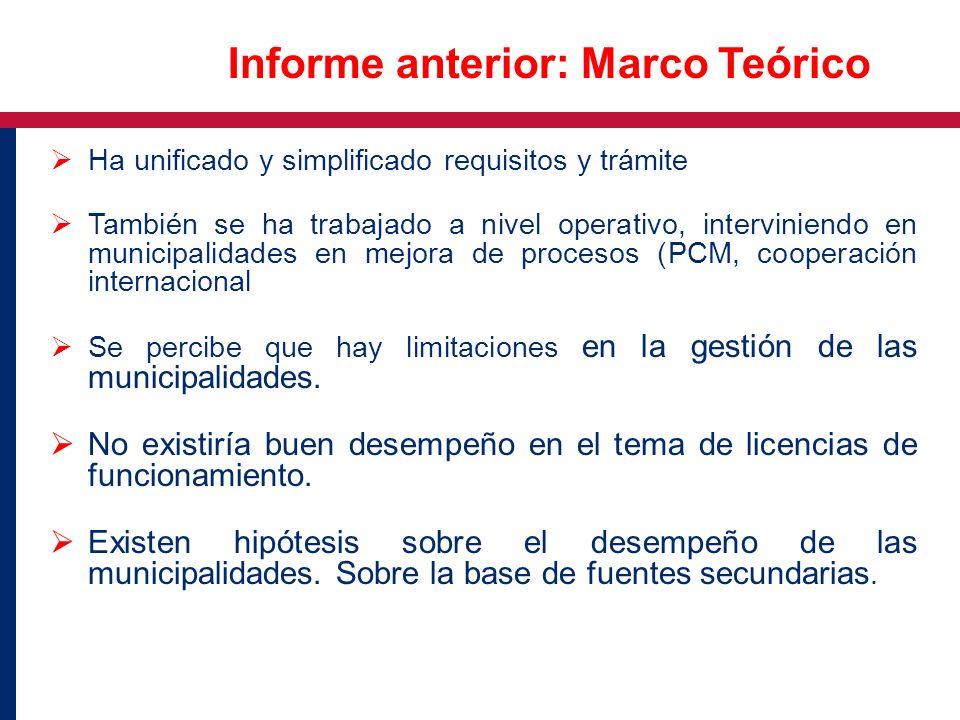 Informe anterior: Marco Teórico