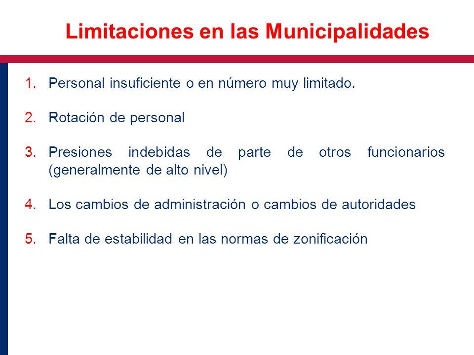 Limitaciones en las Municipalidades