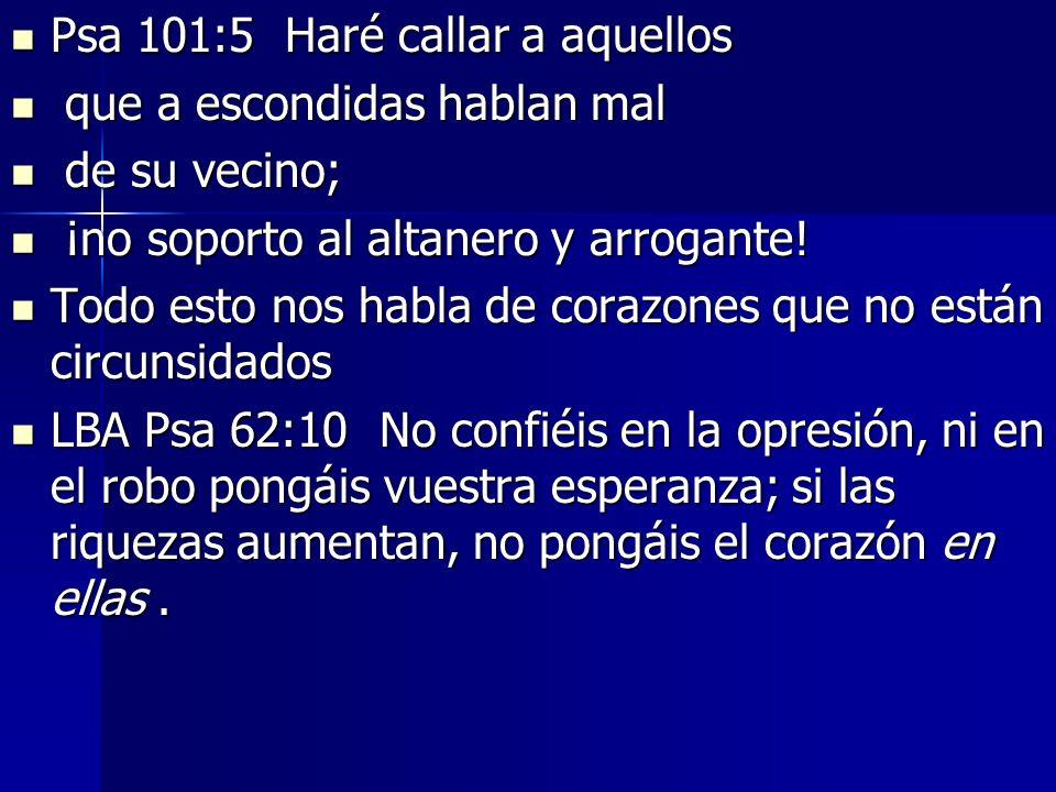 Psa 101:5 Haré callar a aquellos