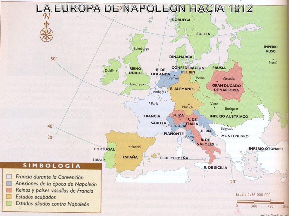 LA EUROPA DE NAPOLEON HACIA 1812