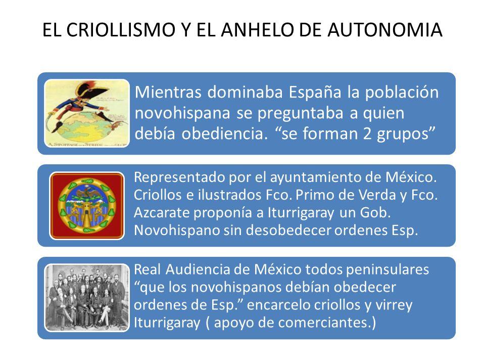 EL CRIOLLISMO Y EL ANHELO DE AUTONOMIA