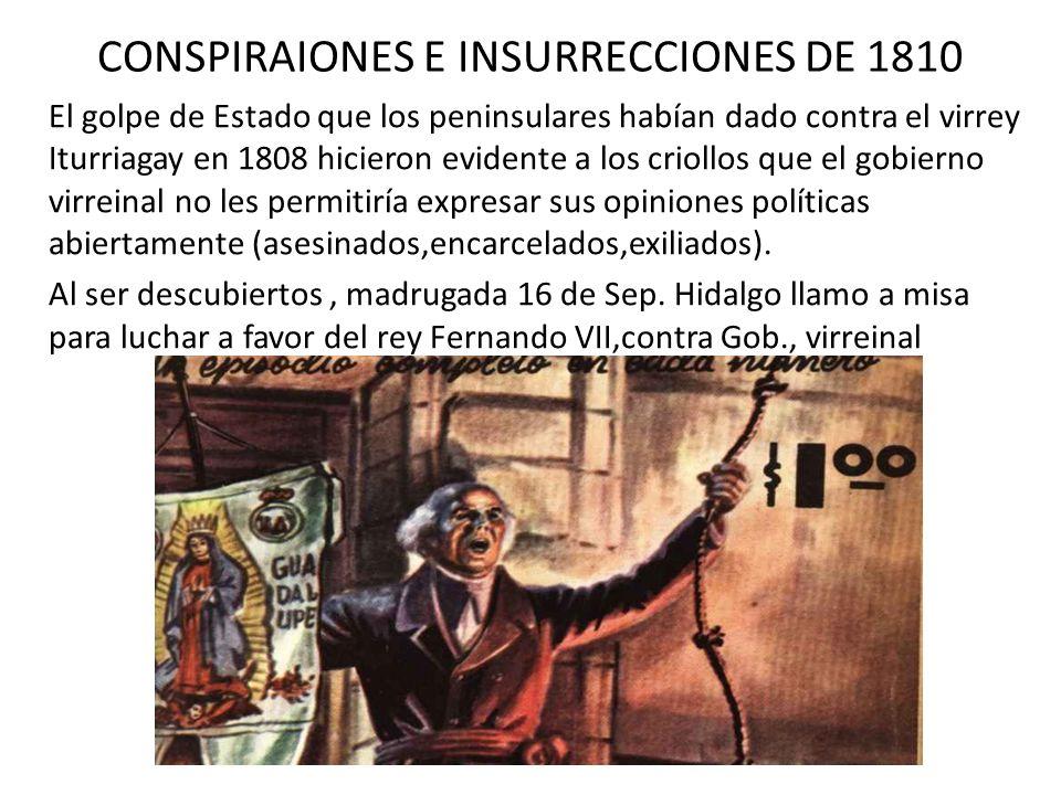 CONSPIRAIONES E INSURRECCIONES DE 1810