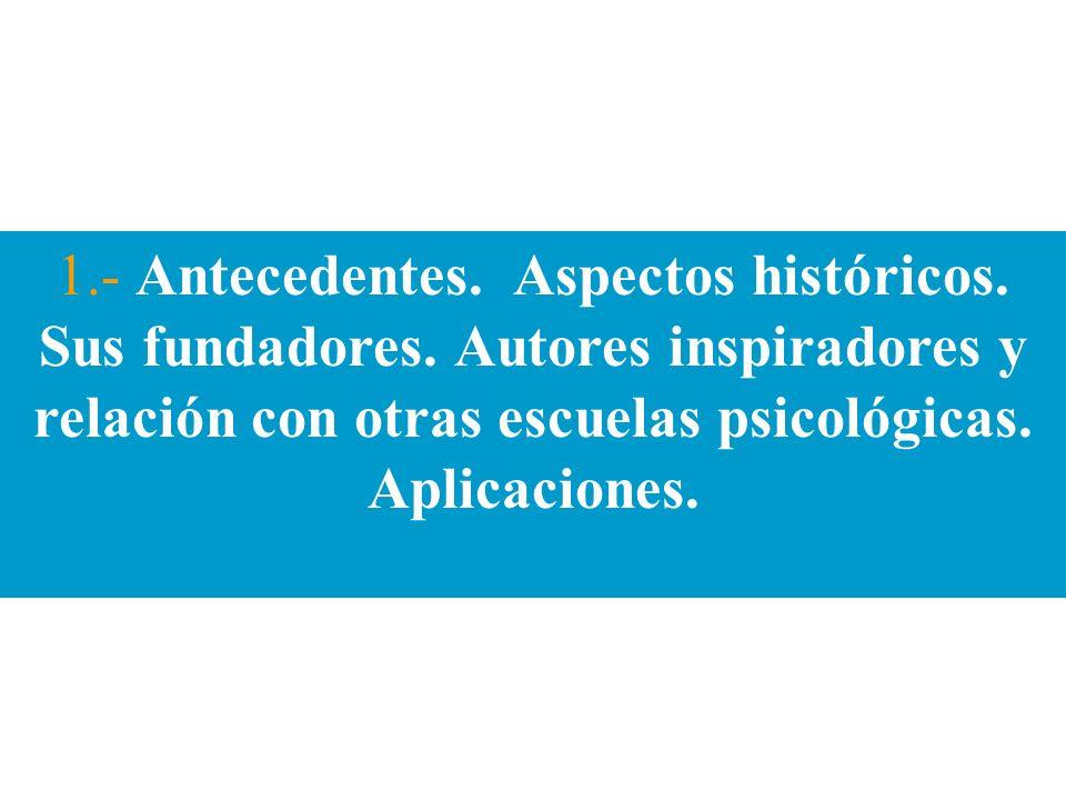 1. - Antecedentes. Aspectos históricos. Sus fundadores