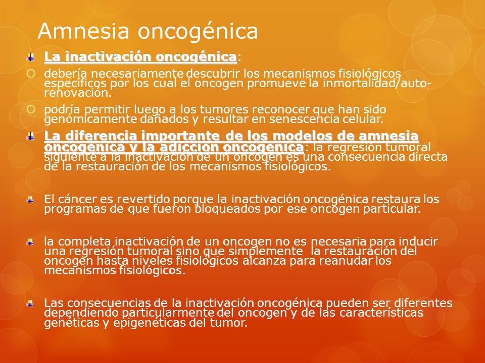 Amnesia oncogénica La inactivación oncogénica: