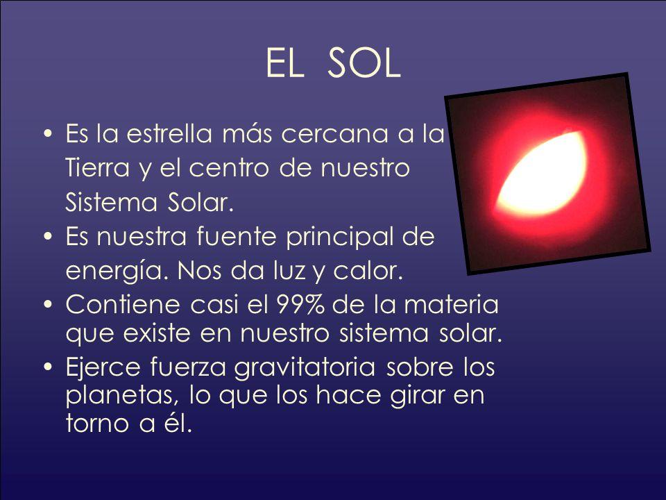 EL SOL Es la estrella más cercana a la Tierra y el centro de nuestro