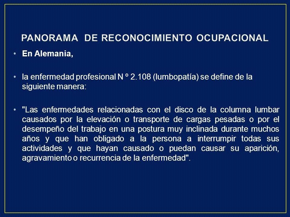 PANORAMA DE RECONOCIMIENTO OCUPACIONAL