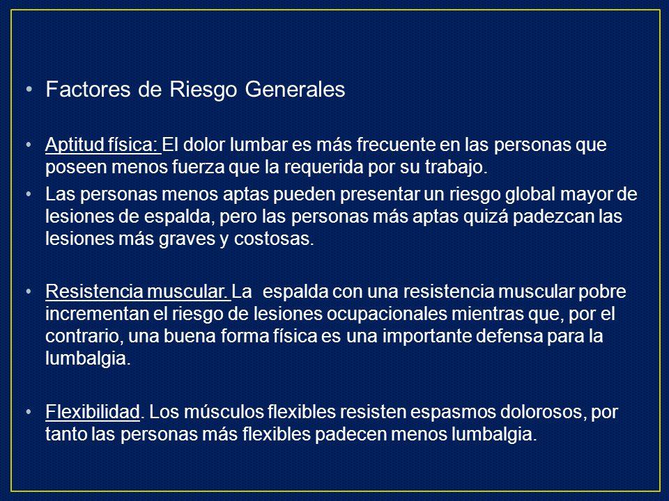 Factores de Riesgo Generales