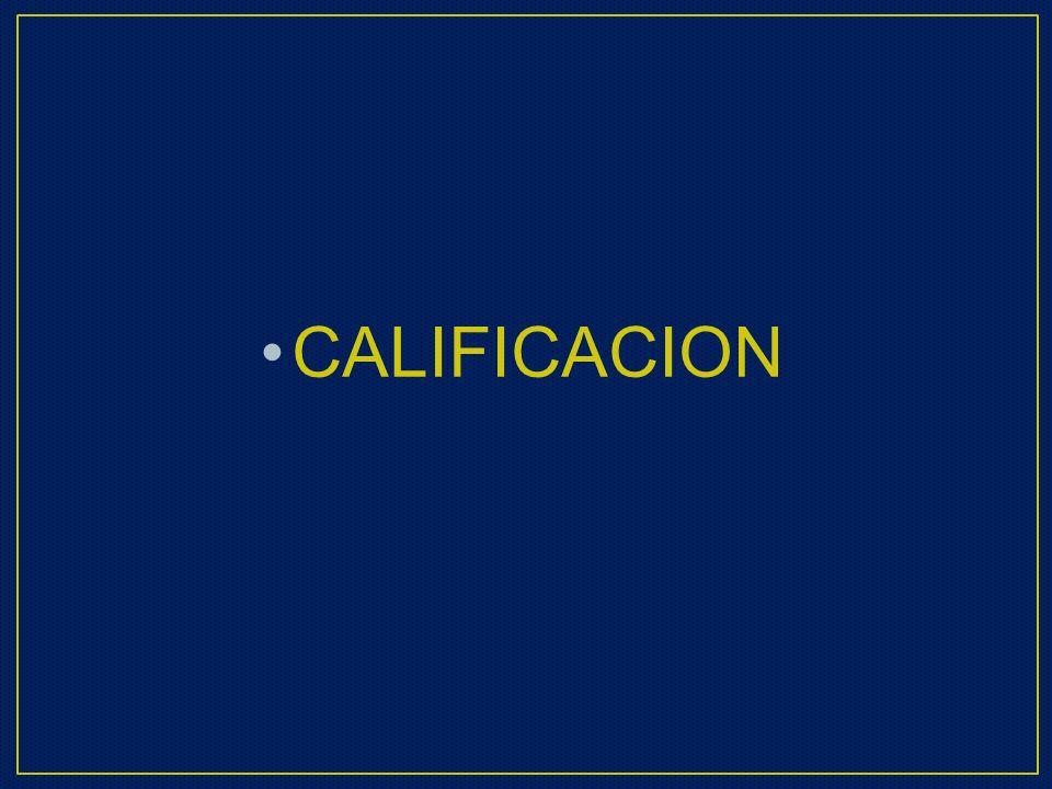 CALIFICACION