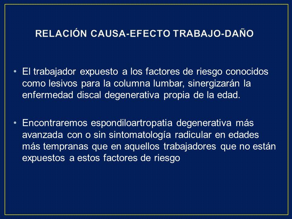 RELACIÓN CAUSA-EFECTO TRABAJO-DAÑO