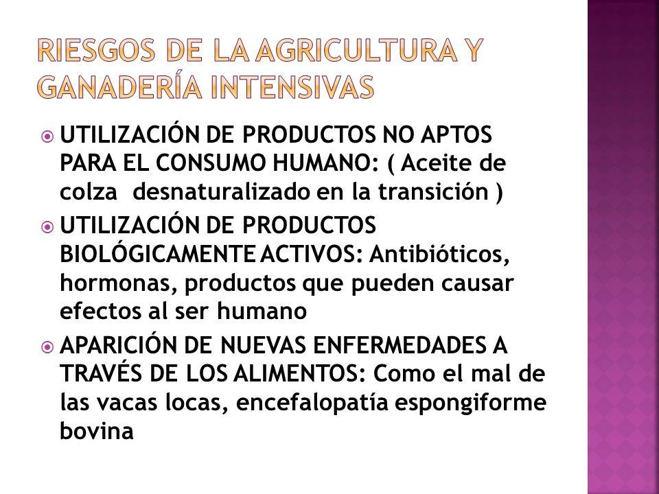 Riesgos de la agricultura y ganadería intensivas