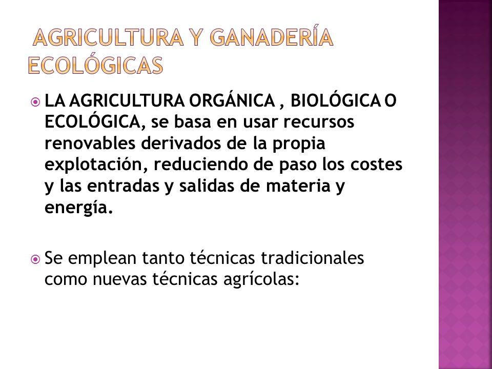AGRICULTURA Y GANADERÍA ECOLÓGICAS