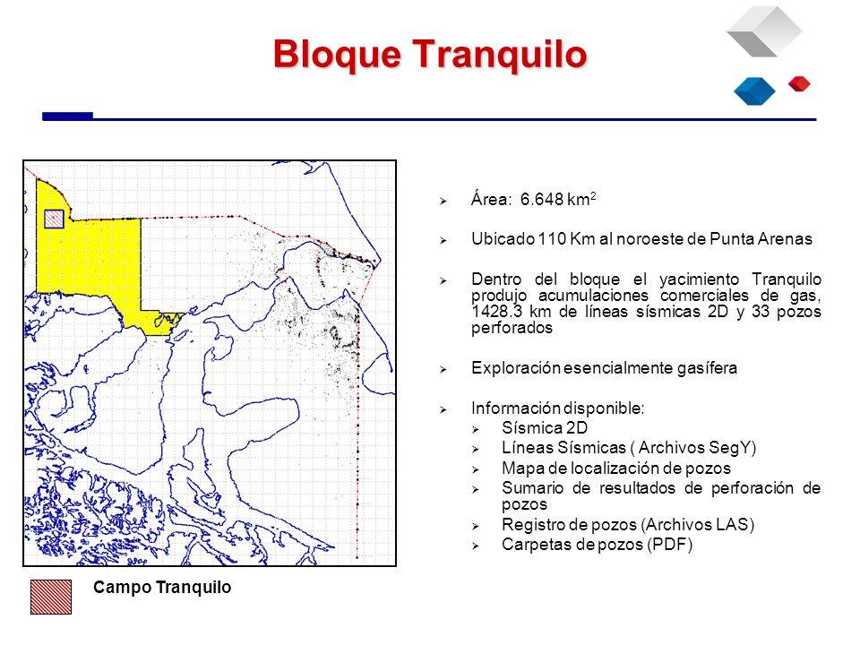 Bloque Tranquilo Área: 6.648 km2