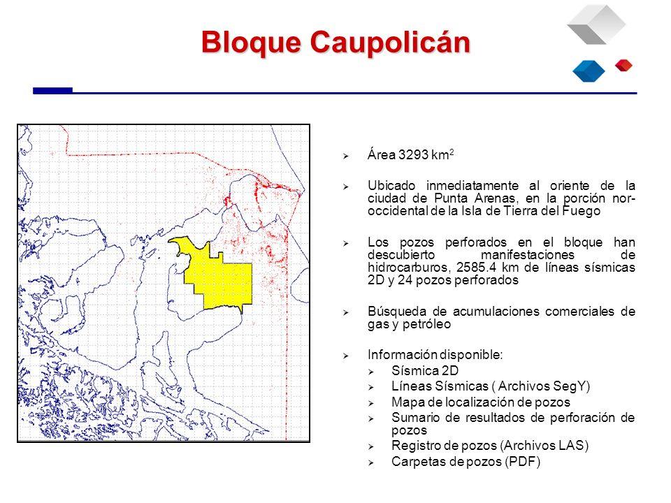 Bloque Caupolicán Área 3293 km2