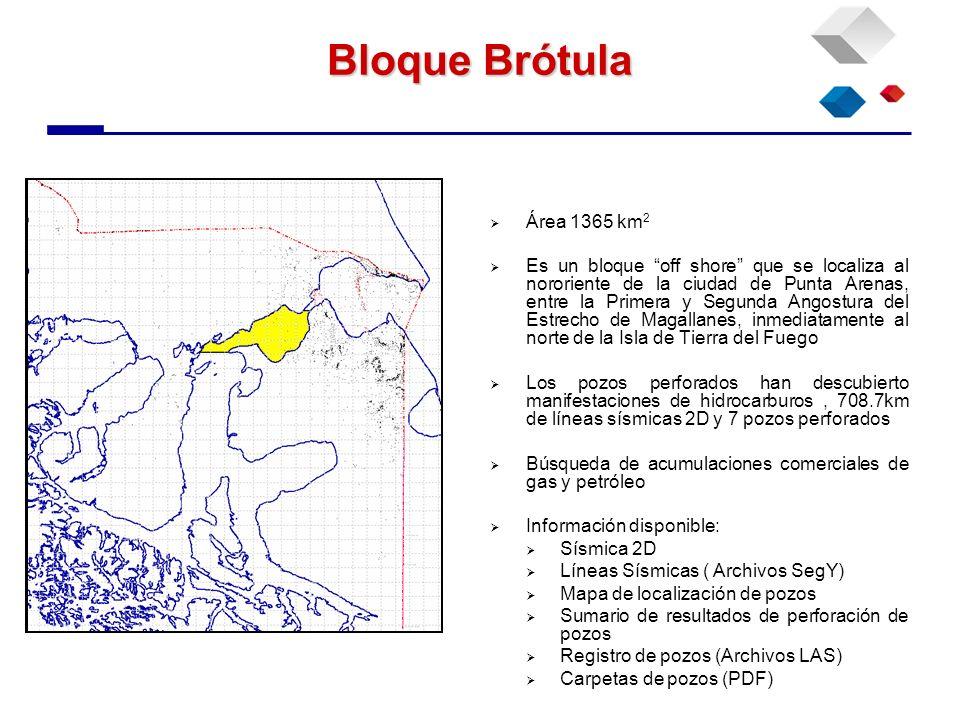 Bloque Brótula Área 1365 km2.