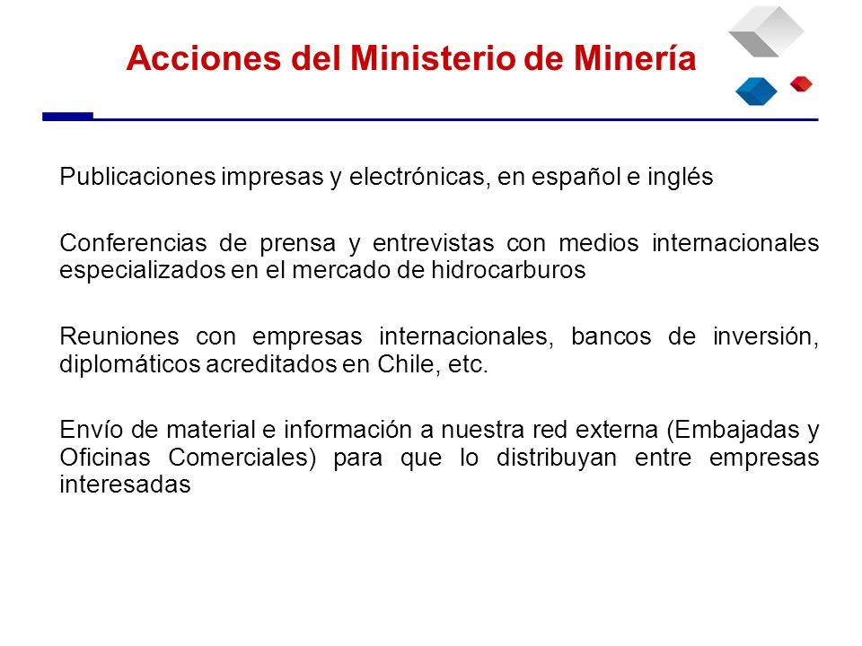 Acciones del Ministerio de Minería