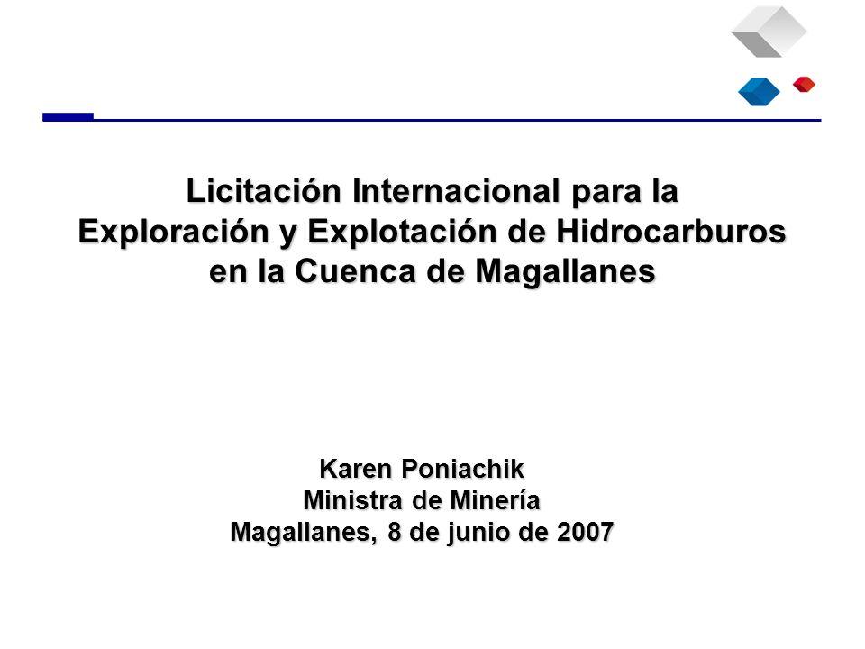 Karen Poniachik Ministra de Minería Magallanes, 8 de junio de 2007