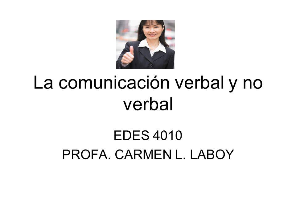La comunicación verbal y no verbal
