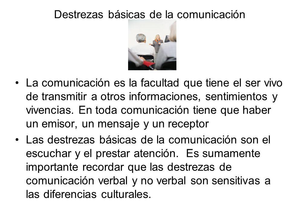 Destrezas básicas de la comunicación