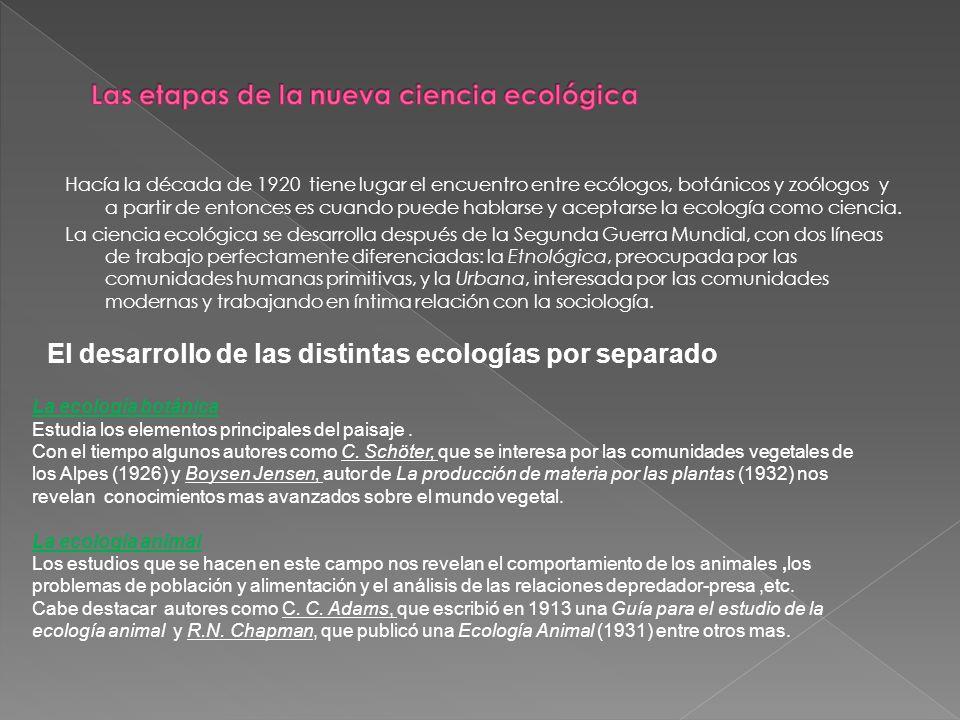 Las etapas de la nueva ciencia ecológica