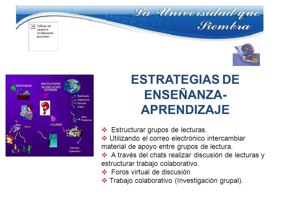 ESTRATEGIAS DE ENSEÑANZA- APRENDIZAJE