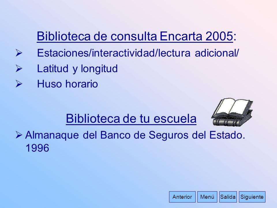 Biblioteca de consulta Encarta 2005: