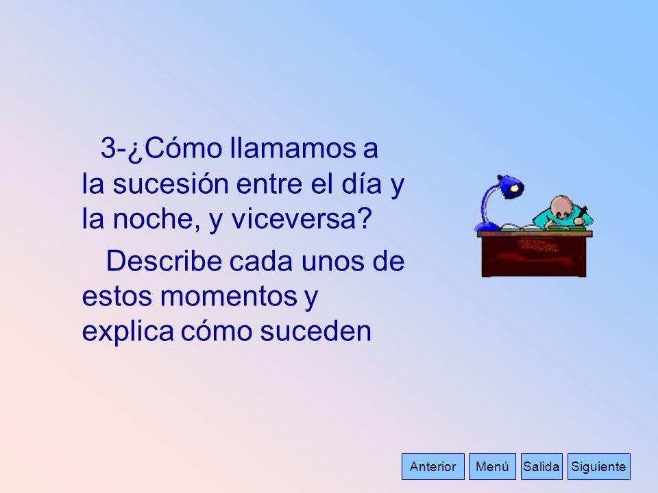 3-¿Cómo llamamos a la sucesión entre el día y la noche, y viceversa