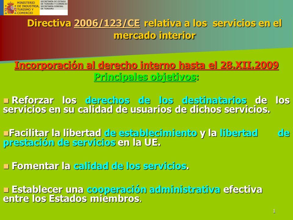 Directiva 2006/123/CE relativa a los servicios en el mercado interior