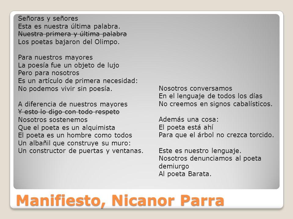 Manifiesto, Nicanor Parra