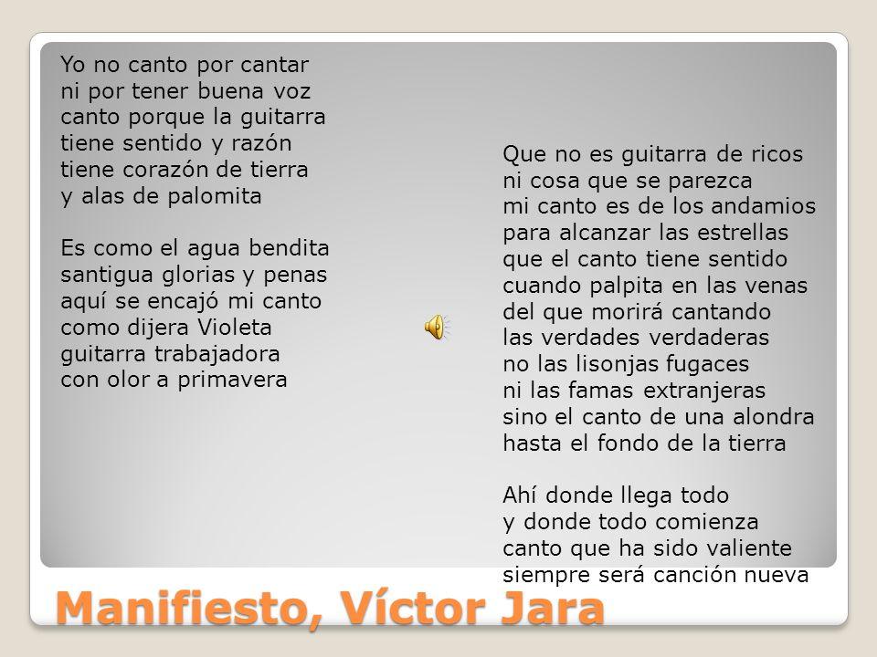 Manifiesto, Víctor Jara