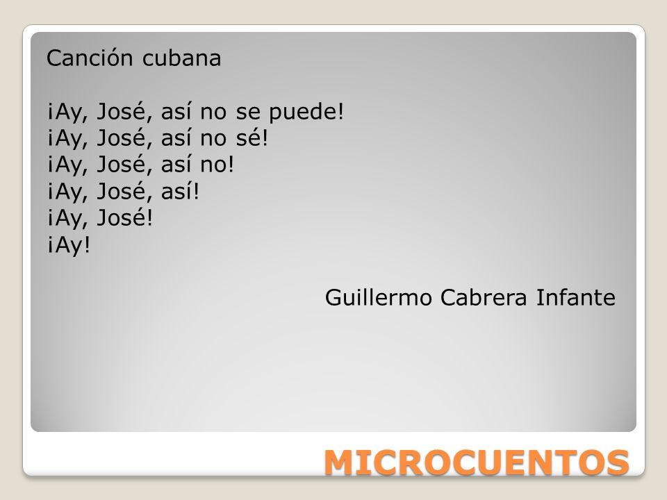 MICROCUENTOS Canción cubana ¡Ay, José, así no se puede!