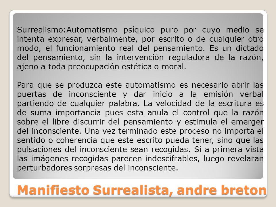 Manifiesto Surrealista, andre breton