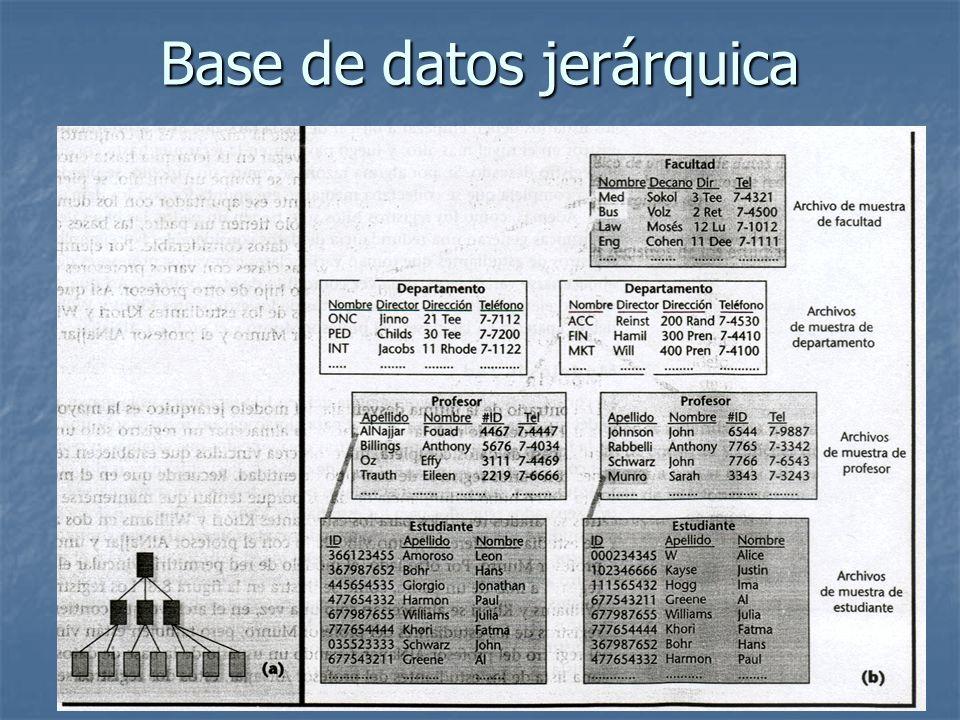 Base de datos jerárquica