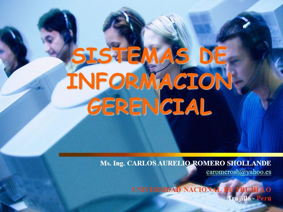 SISTEMAS DE INFORMACION GERENCIAL