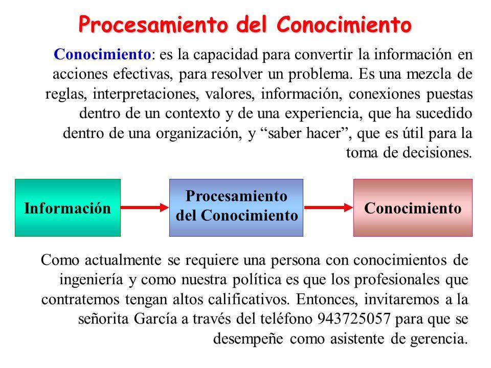 Procesamiento del Conocimiento