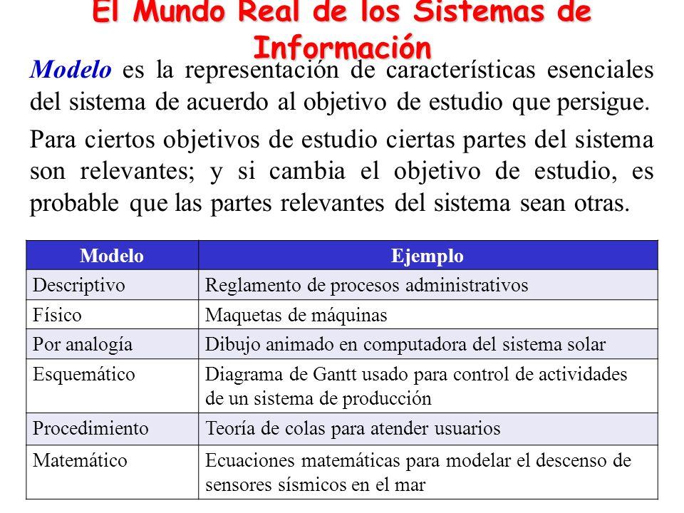 El Mundo Real de los Sistemas de Información