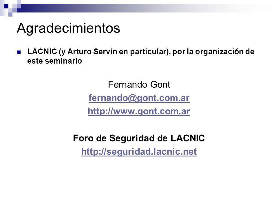 Foro de Seguridad de LACNIC