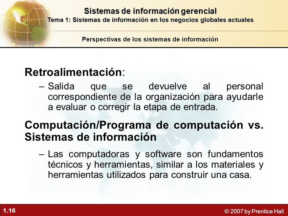 Computación/Programa de computación vs. Sistemas de información