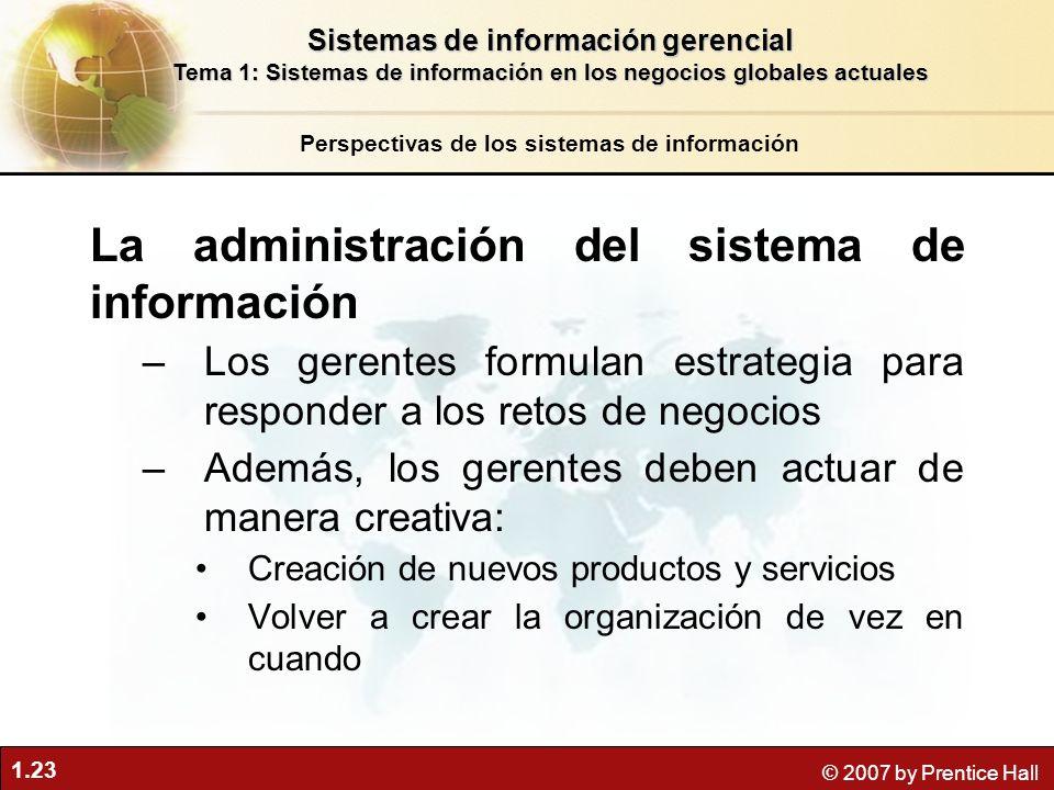 La administración del sistema de información