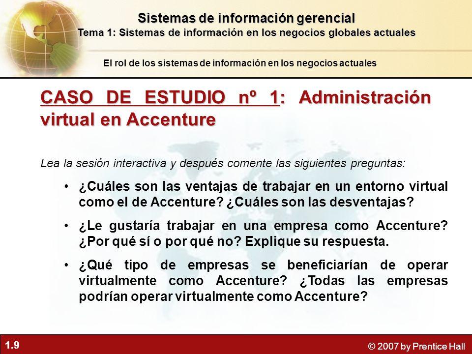 CASO DE ESTUDIO nº 1: Administración virtual en Accenture
