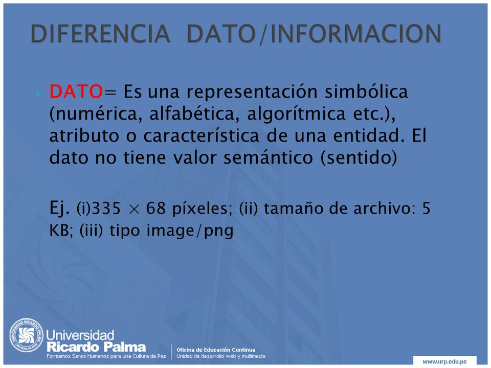 DIFERENCIA DATO/INFORMACION