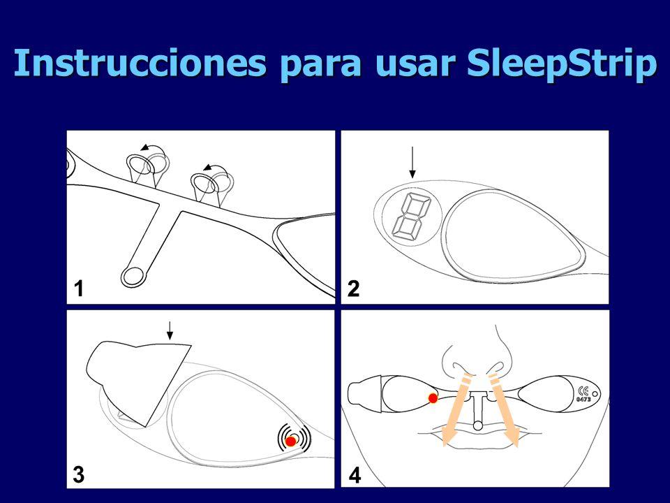 Instrucciones para usar SleepStrip
