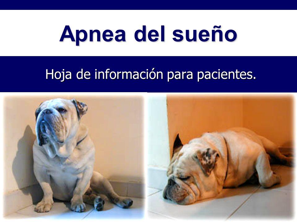 Hoja de información para pacientes.