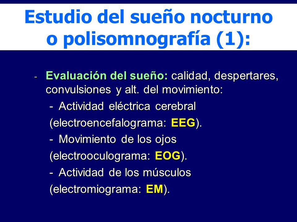 Estudio del sueño nocturno o polisomnografía (1):